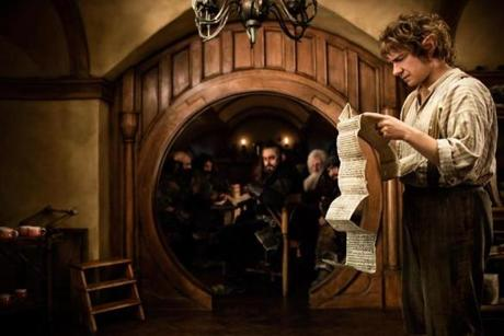 "Martin Freeman as Bilbo Baggins in Peter Jackson's ""The Hobbit: An Unexpected Journey."""